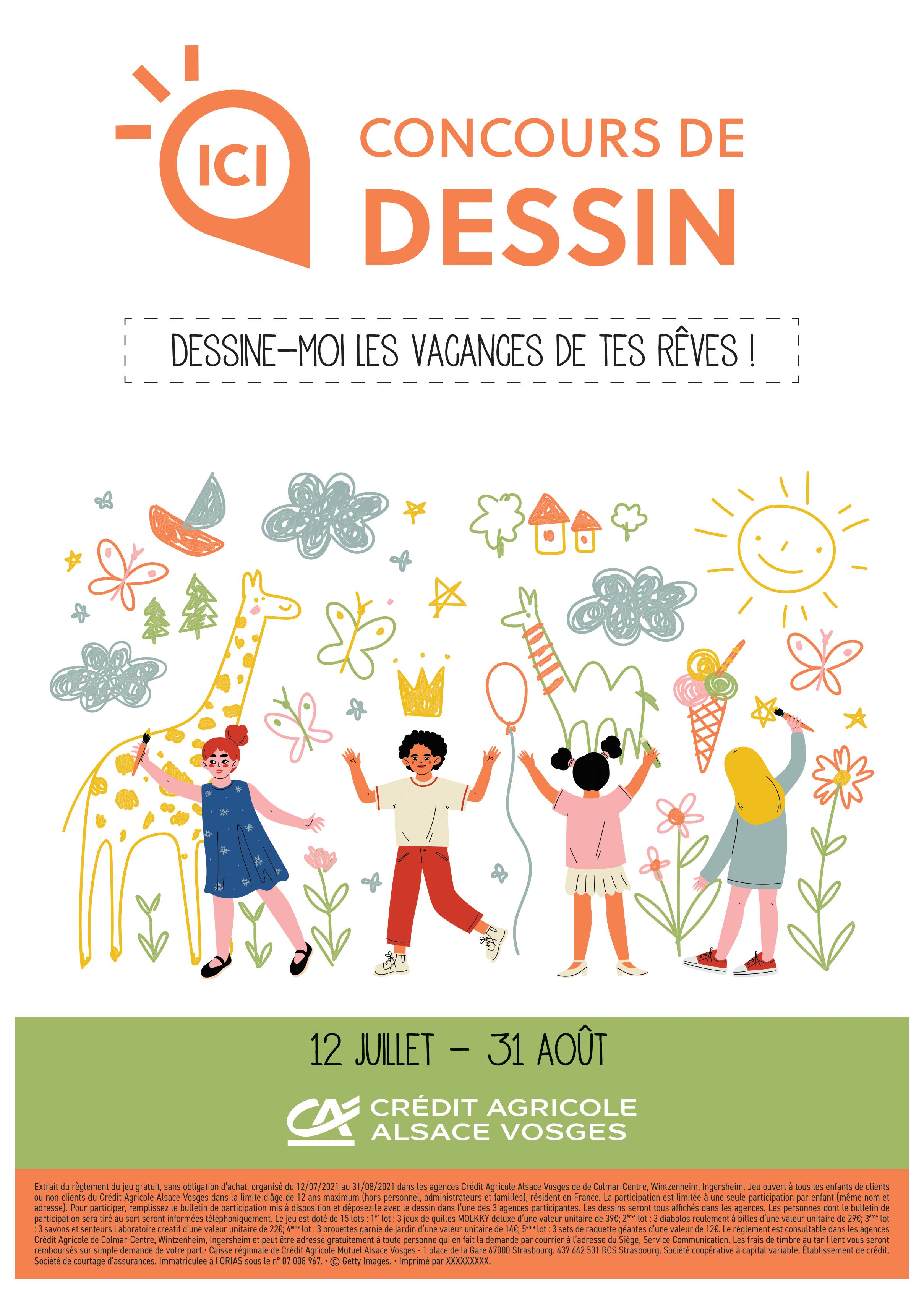 Le concours de dessin «Dessine-moi les vacances de tes rêves»du Crédit Agricole